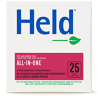 Held by ecoverTablettes lave-vaisselle All-in-One 25x20g